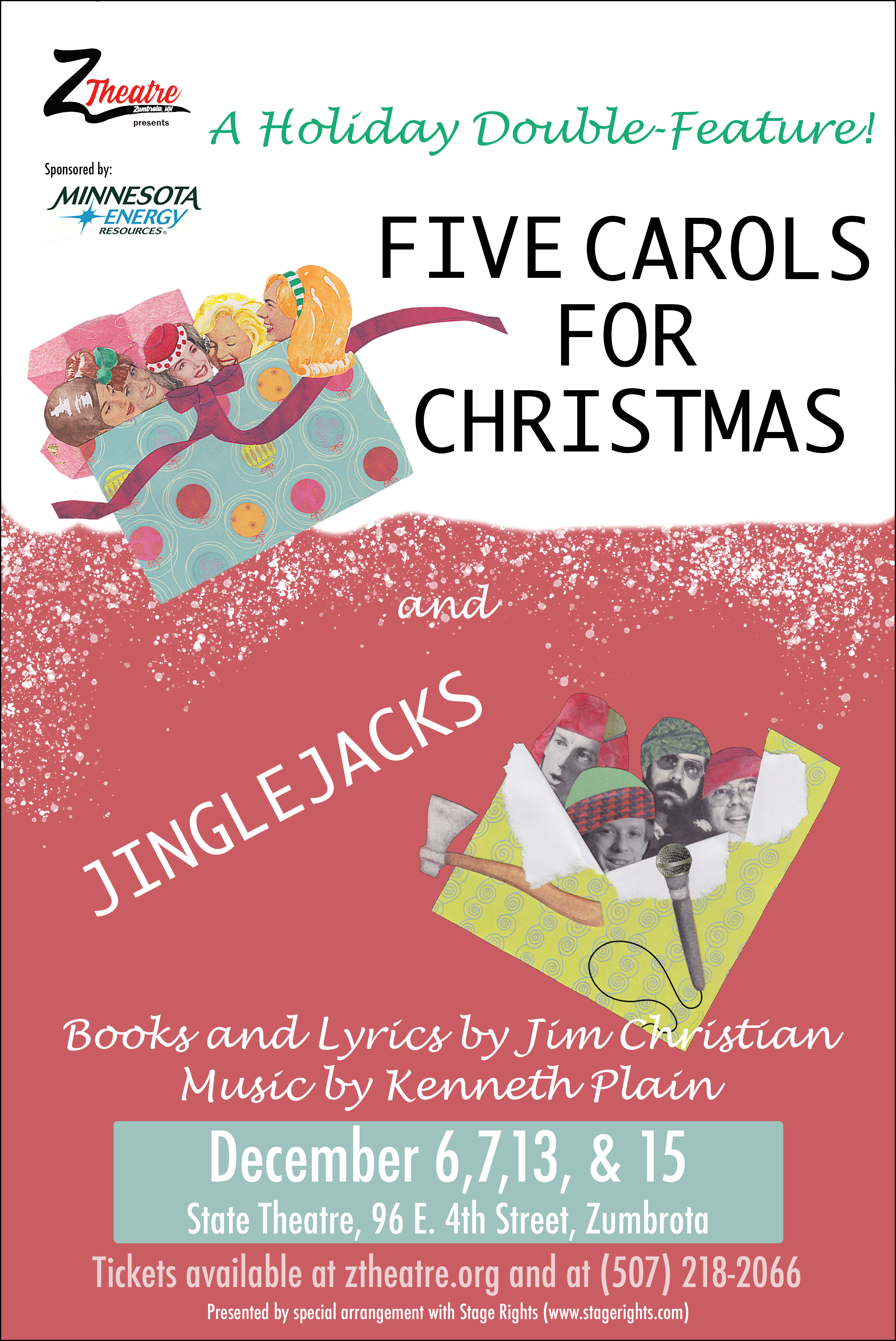 5 carols and jinglejacks zumbrota theatre